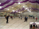 100% Available Interior Space Outdoor Event Tent With Decoration For Skating Rink