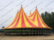Yellow / Red Outdoor Event Tent PVC Roof Covering High Peak Used For Open - Air Party