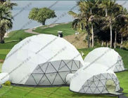 Outdoor Dome Shaped Tent With Inside Decoration , Customized Transparent Dome Tent
