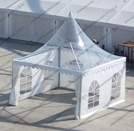 4m x 4m Clear Marquee Tent Aluminum Transparent Portable Temporarily Installed
