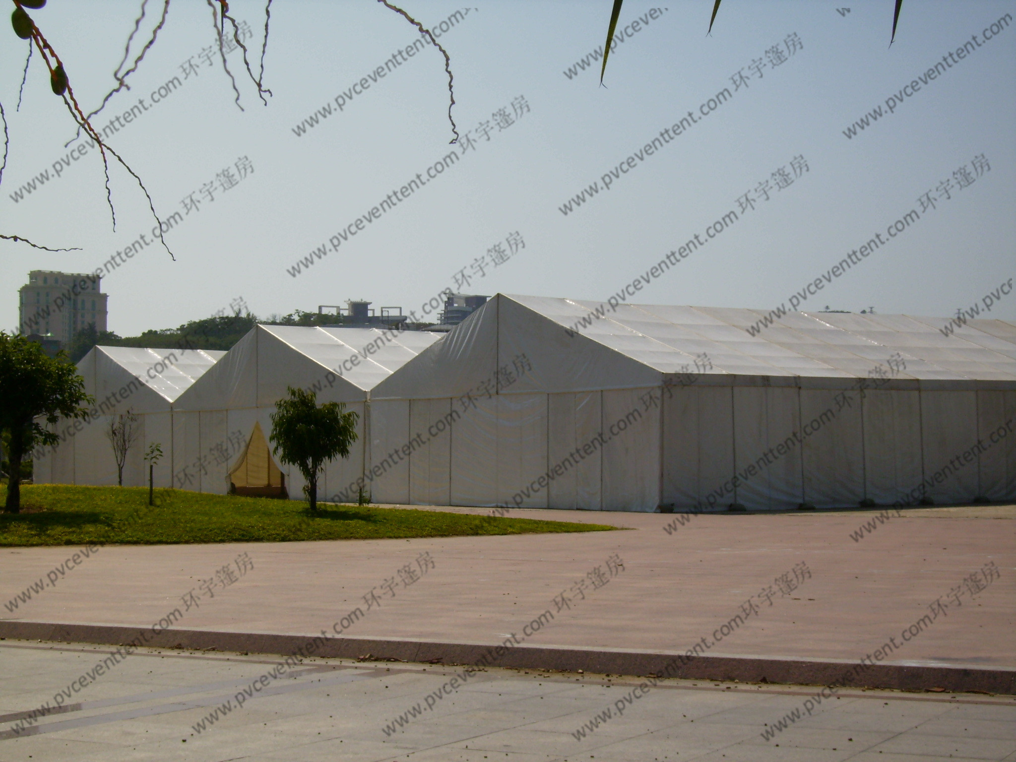 Large Temporary Warehouse Tent 20m 30m Width Waterproof For Outside Industrial Storage