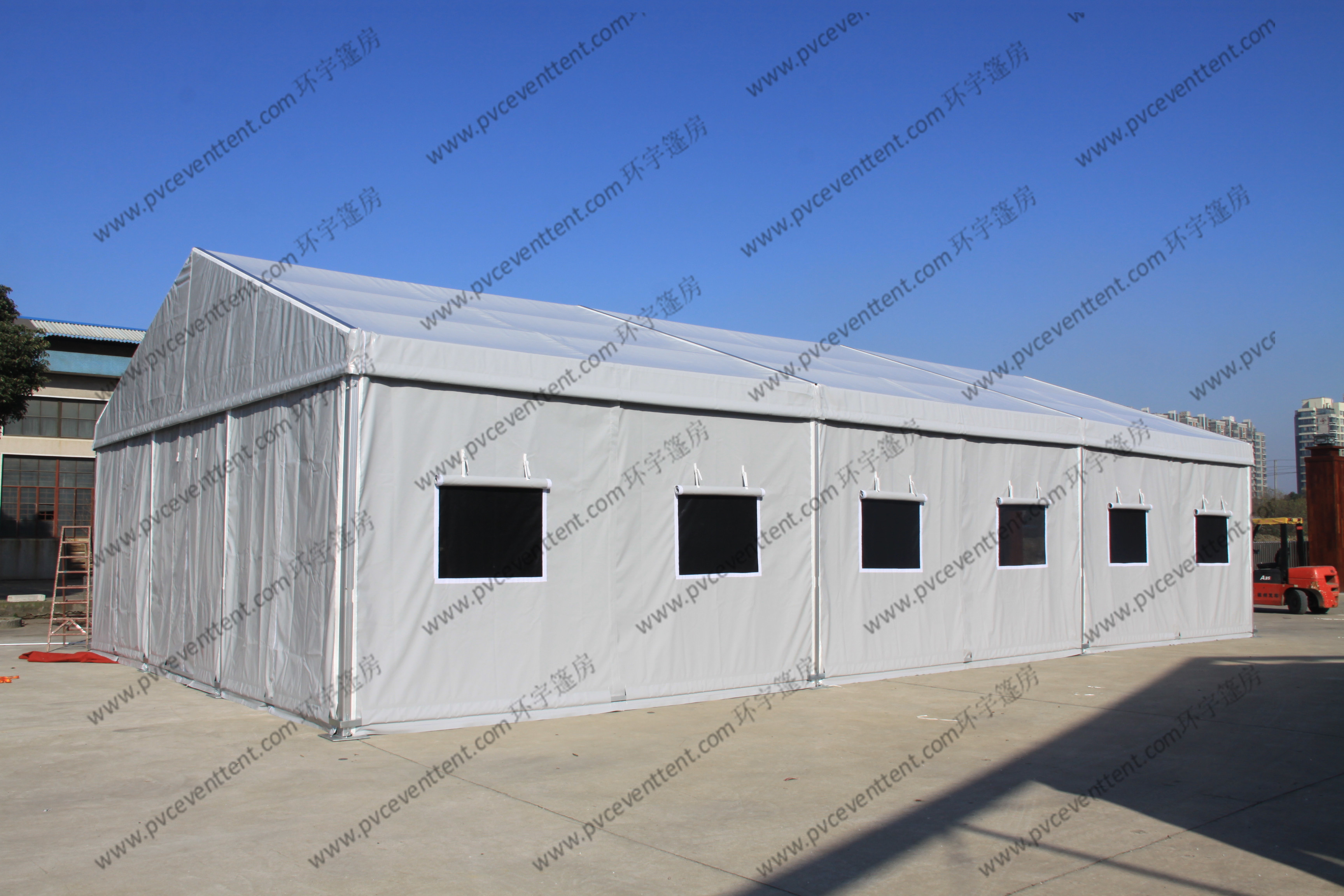 Silver Gray Military Army Tent , PVC Canvas Army Tent For Military Outside Event