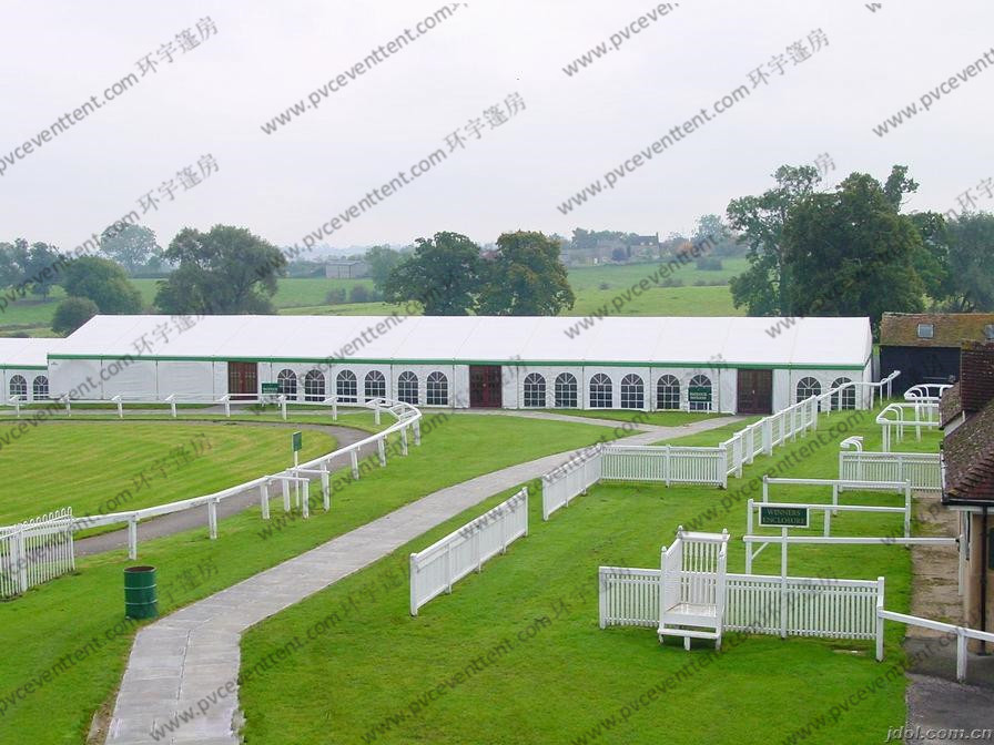 Aluminum Struceture White Outdoor Tent PVC Sidewalls Contain More Than 500 People