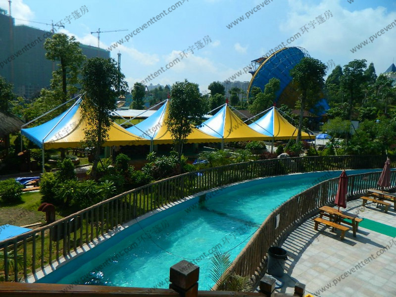 Wind Resistant Pagoda Party Tent Blue And Yellow Colorful PVC Roof Cover For Party