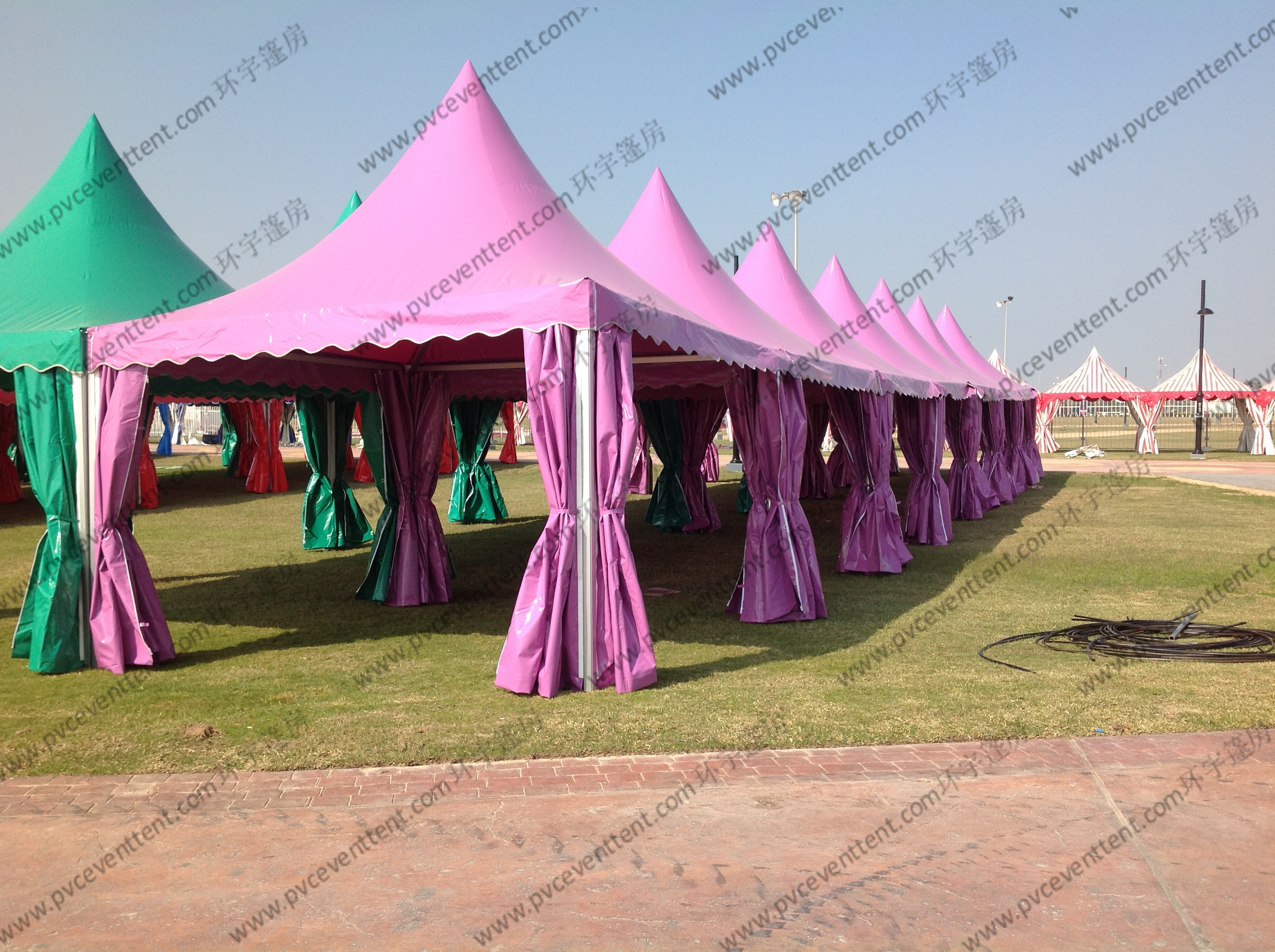 Colorful Multi - Side PVC Pagoda Tent Aluminium Alloy Frame For Event / Party