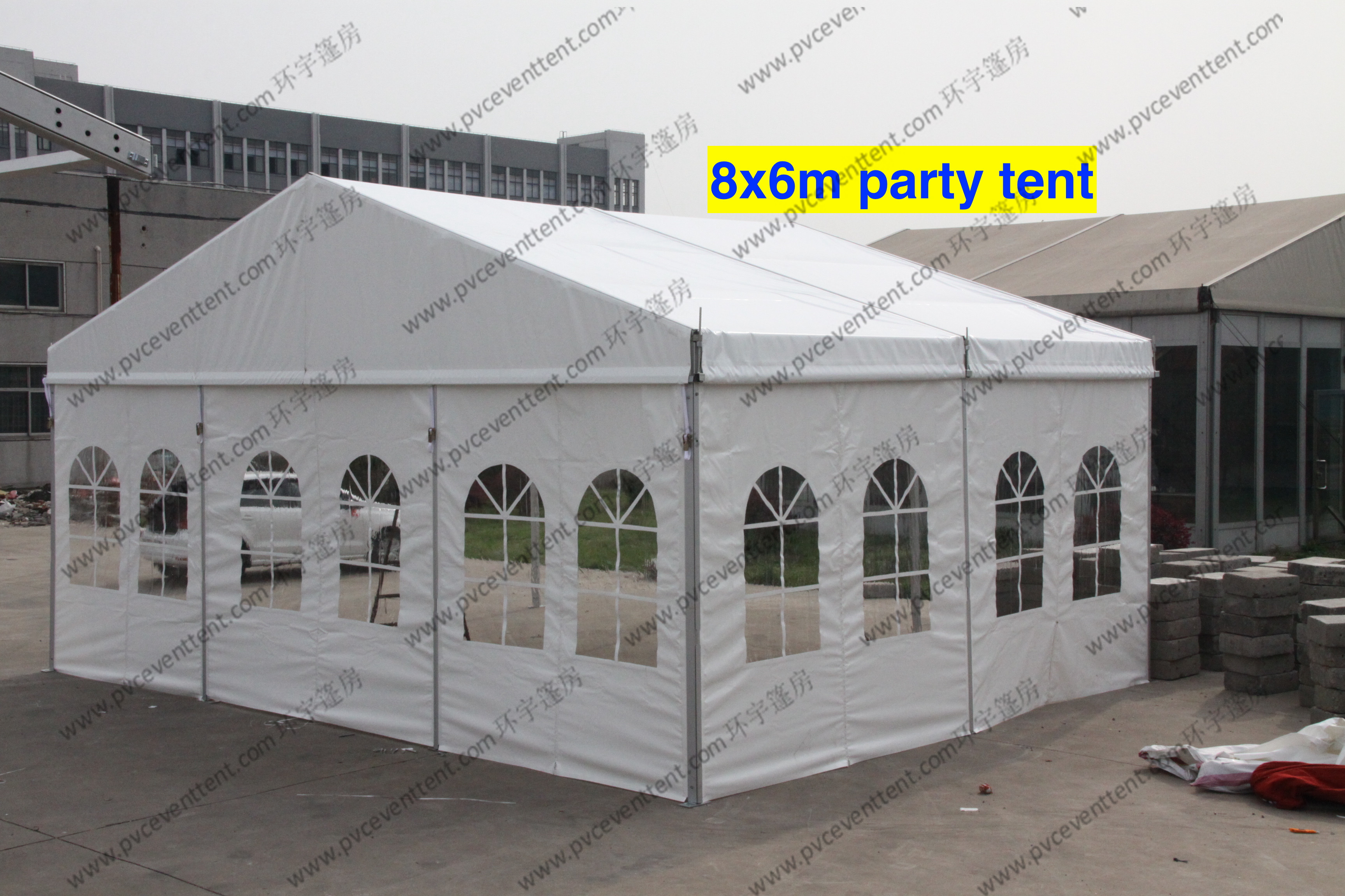 Waterproof Outdoor Show PVC Tents Aluminum Frame With Windows