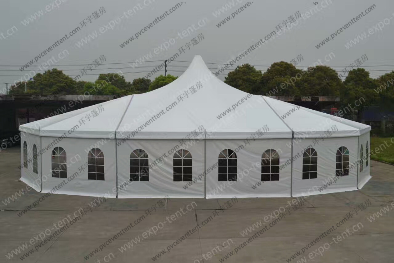 Customized Mixed High Peak Multi-side Tent For Wedding Party