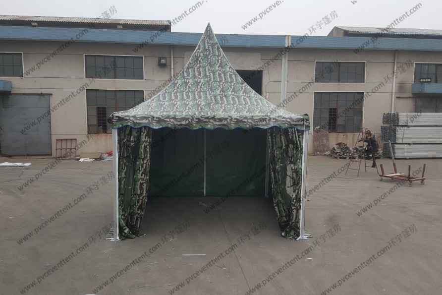 3x3M Aluminum Camouflage Military Army Tent With Transparent PVC Windows