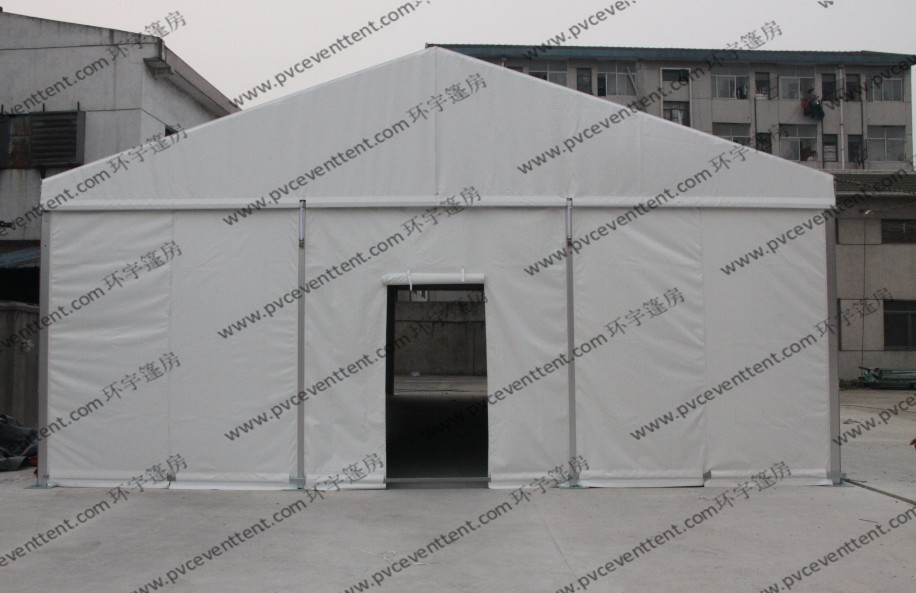 6x9M White Small Size Outdoor Party Tents PVC Screen Windows And Rolling Cover