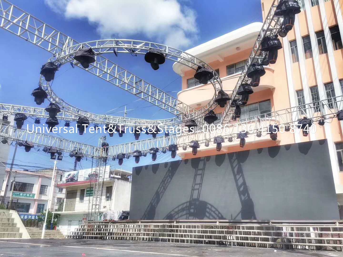 Aluminum Stage Circular Lighting Truss For Parties , Long Work Life Times